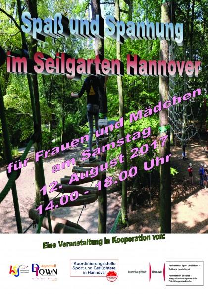Spaß und Spannung im Seilgarten Hannover für Frauen und Mädchen am 12.08.2017 III