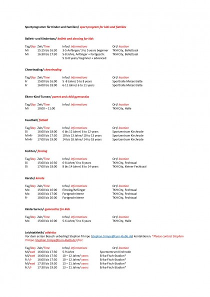 TKH Sportprogramm