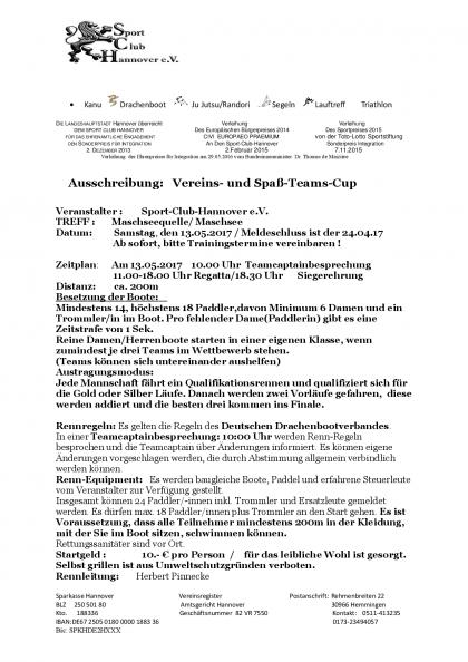 Ausschreibung Vereins und Spaß-Teams Cup-001
